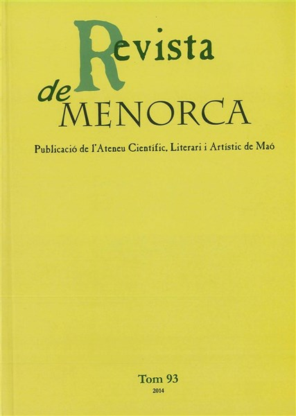 Revista de Menorca. Tom 93 (2014)