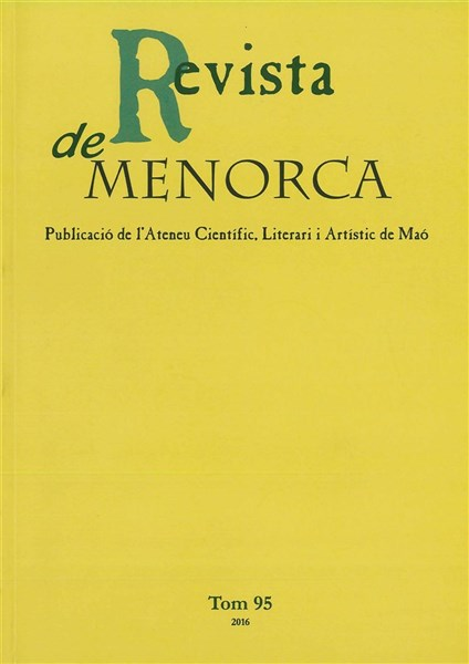Revista de Menorca. Tom 95 (2016)