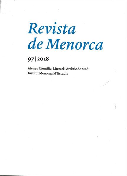 Revista de Menorca. Tom 97 (2018)